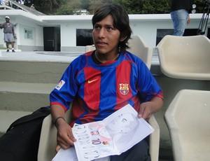 boliviano treino do Atlético-MGtreino  (Foto: Leonardo Simonini)
