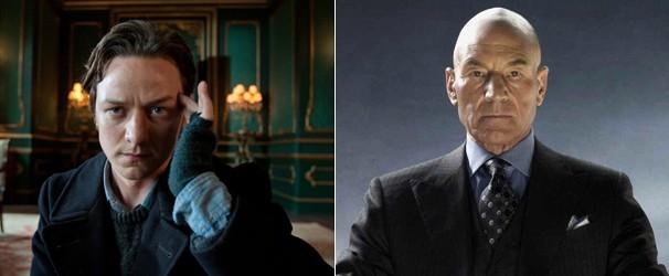 James McAvoy e Patrick Stewart como Professor Charles Xavier (Foto: Divulgação/Reprodução)