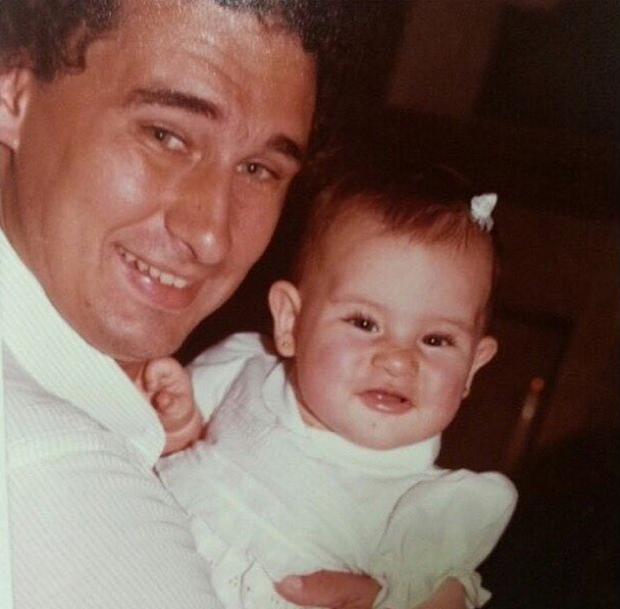 Fernanda Paes Leme com o pai (Foto: Reprodução/Instagram)