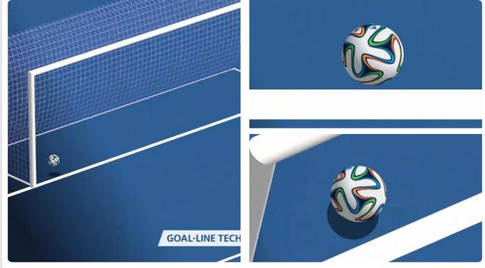 14 câmeras de alta resolução da Fifa validaram o gol contra de Honduras. Sete delas detectaram a bola entrando (Foto: Divulgação/Fifa)