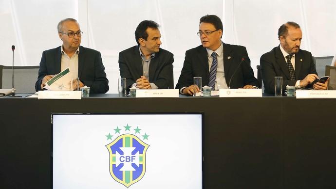 André Cavalcante, presidente do Remo, no Conselho Técnico da Série C do Brasileiro (Foto: Rafael Ribeiro/CBF)