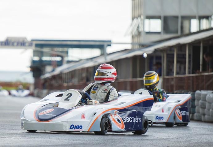 Pedro Piquet e Nelsinho Piquet Kart Brasília (Foto: Hugo Lopes / Divulgação)