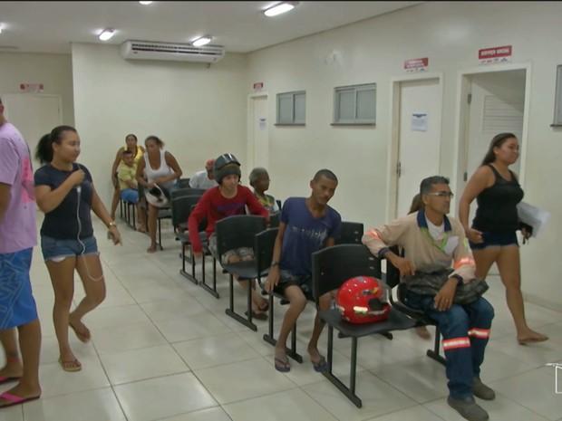 Atendimento aumentou na UPA de Caxias (MA) por conta dos incêndios na cidade (Foto: Reprodução/TV Mirante)
