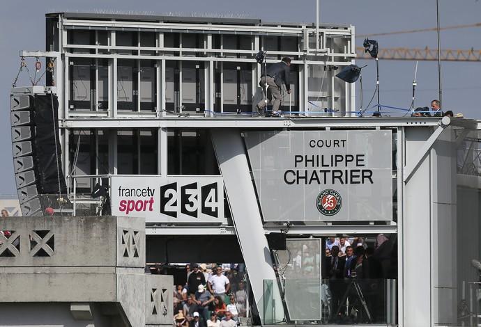Roland Garros, Tênis, Acidente (Foto: AP)