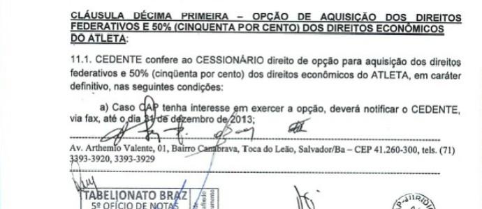 contrato (Foto: Reprodução)