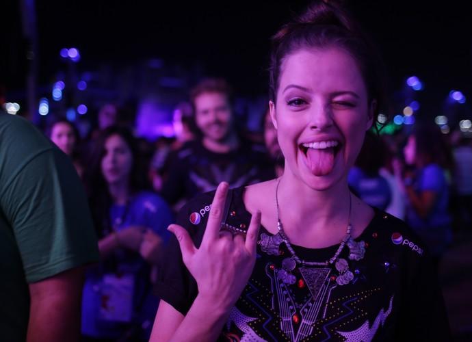 Agatha Moreira no Rock in Rio  (Foto: Chico Couto / Gshow)