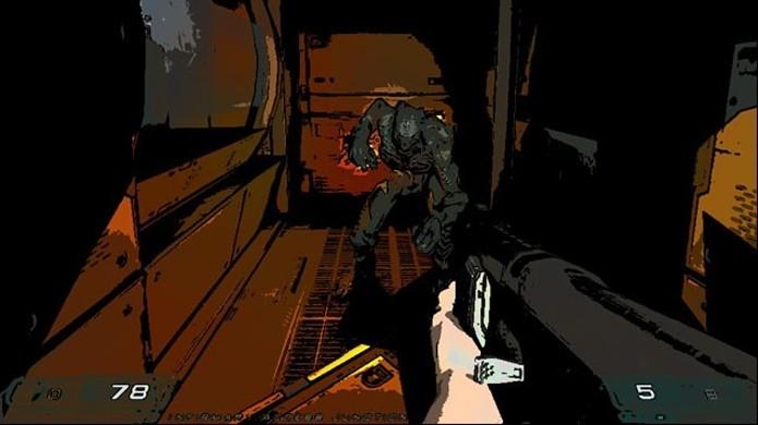 Doom 3 com visual de desenho animado se torna um jogo bem diferente (Foto: Reprodução/GamersHell)
