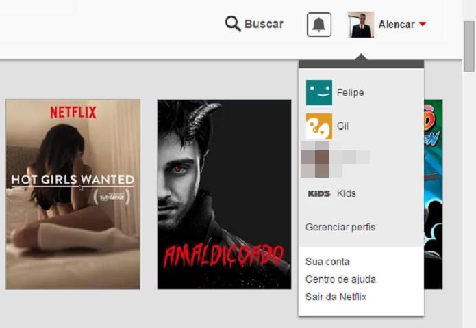 Saindo da sua conta no Netflix (Foto: Reprodução/Felipe Alencar)