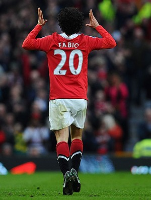 fabio manchester united gol arsenal (Foto: ag&#234;ncia Getty Images)