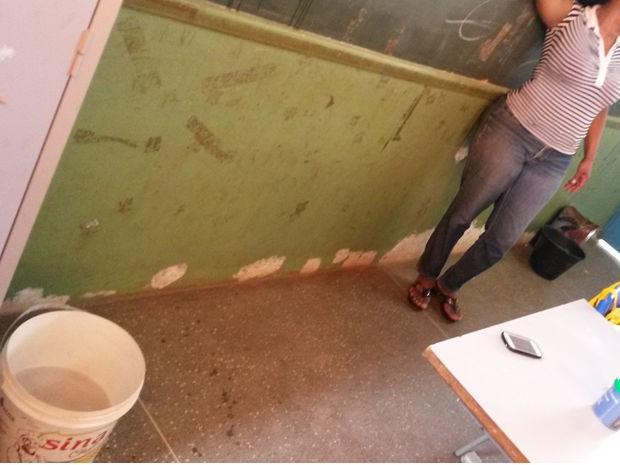 Condicionadores de ar não foram instalados por problemas no transformador (Foto: Assessoria/Escola Municipal Professora Ana Teresa Arcos Krause)