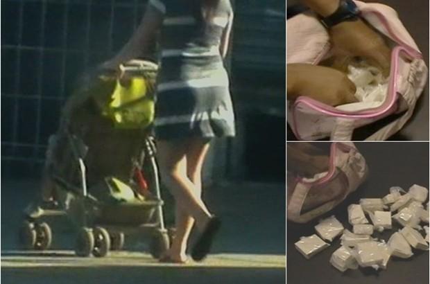 Mulher é presa com cocaína dentro de carrinho de bebê, em Goiânia (Foto: Divulgação/Polícia Civil)