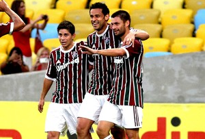 Fred Conca e Rafael Sobis comemora gol Fluminense x Sport (Foto: Nelson Perez / Site Oficial do Fluminense)