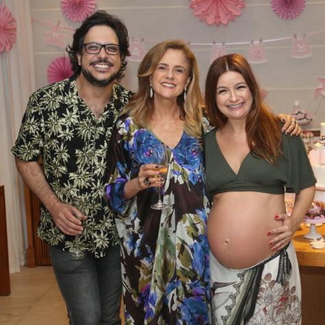 Lúcio Mauro Filho, Marieta Severo e Cíntia Oliveira (Foto: Arquivo pessoal)
