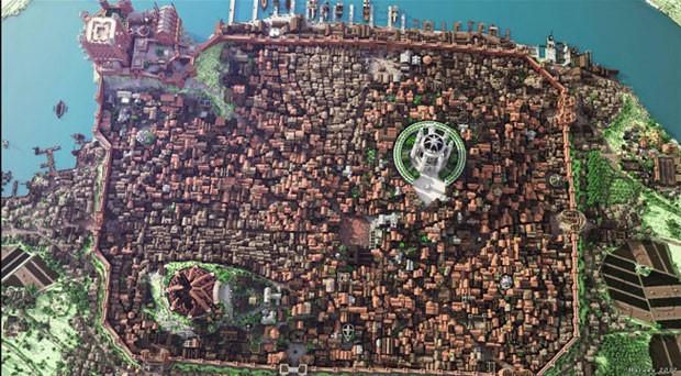 Cidade fictícia de King's Landing criada em 'Minecraft' (Foto: Divulgação/WesterosCraft)