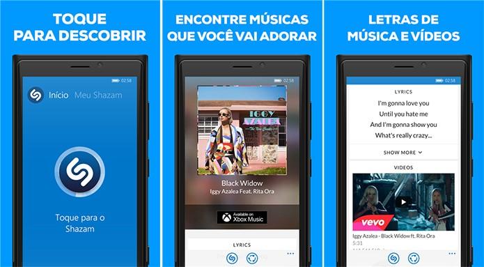 Shazam para Windows Phone ganhou lista de músicas mais pesquisadas e descobertas para usuário (Foto: Divulgação/Windows Phone Store)