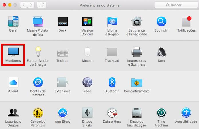 Acesse as configurações de monitores (Foto: Reprodução/Helito Bijora)