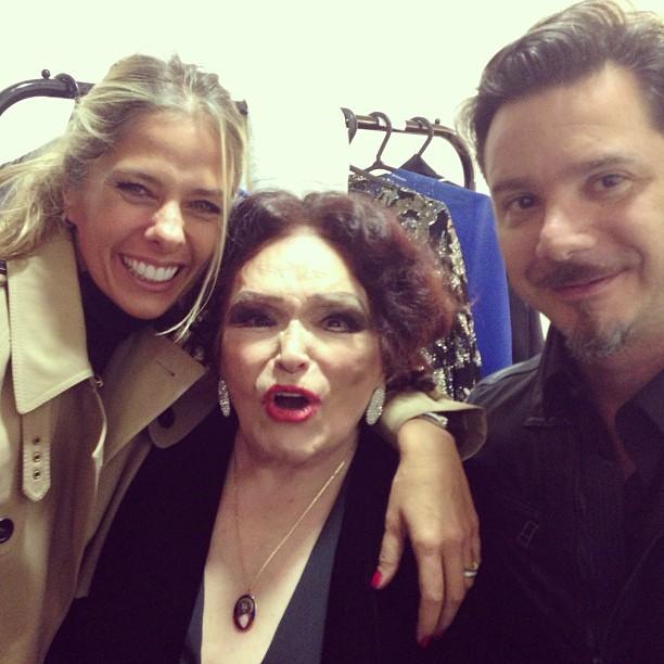 Adriane Galisteu, Bibi Ferreira e Alexandre Iódice (Foto: Reprodução Instagram)