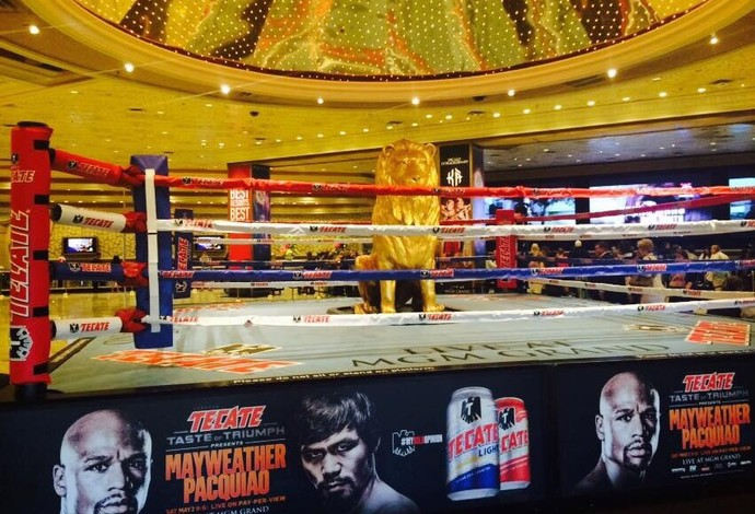 ringue pronto luta boxe mayweather pacquiao las vegas (Foto: Patrícia Dutra)
