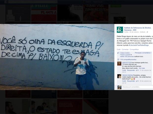 G1 Preso Em Ato No Rio Vai Para Solitária Por Foto Que Critica
