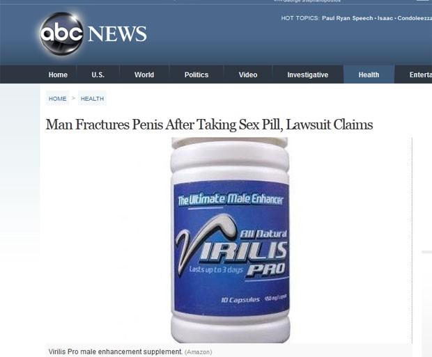 Adrian Carter alega que suplemento para aumentar o tamanho do pênis provocou lesão. (Foto: Reprodução)