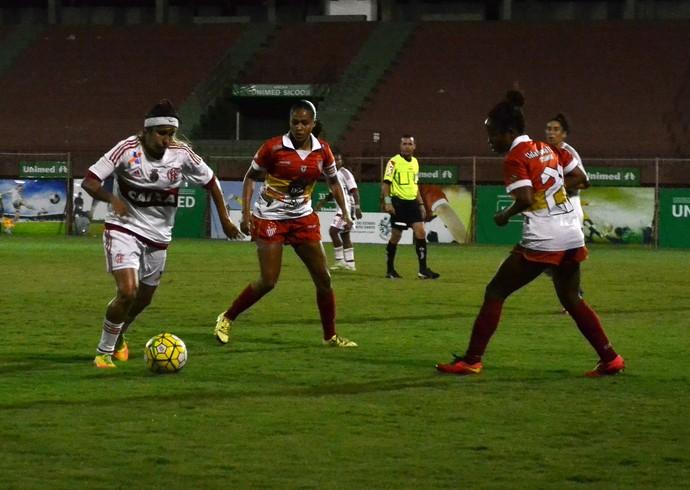 Flamengo goleia o Vila Nova-ES e avança na Copa do Brasil Feminina (Foto: Sidney Magno Novo/GloboEsporte.com)