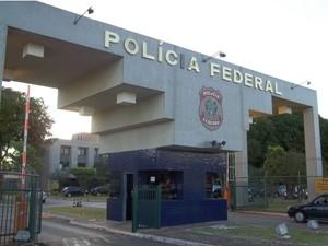Entrada da Polícia Federal, em Brasília (Foto: Filipe Matoso/G1)