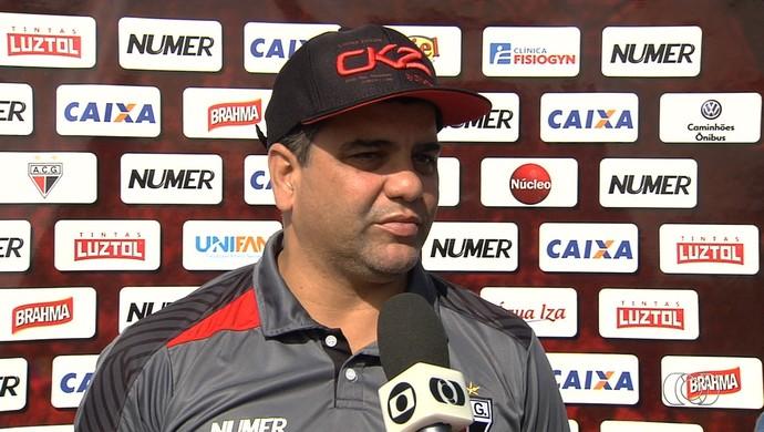 Marcelo Cabo - técnico do Atlético-GO (Foto: Reprodução / TV Anhanguera)