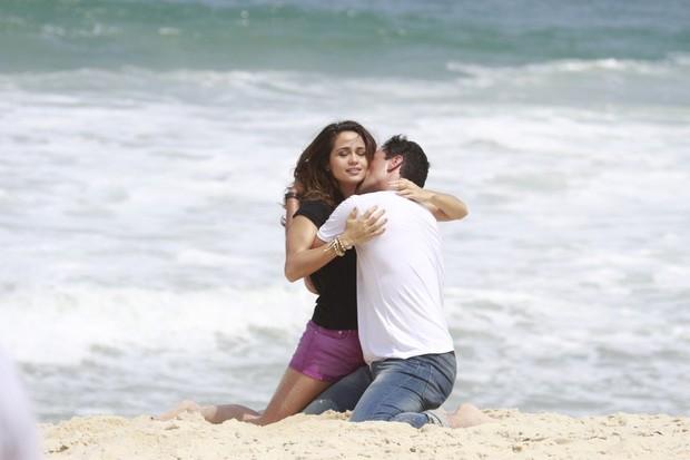 Gravação de Salve Jorge com Rodrigo Lombardi e Nanda Costa (Foto: Dilson Silva  / Agnews)