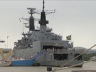 Navios de guerra estão abertos para visitação em Itajaí neste domingo