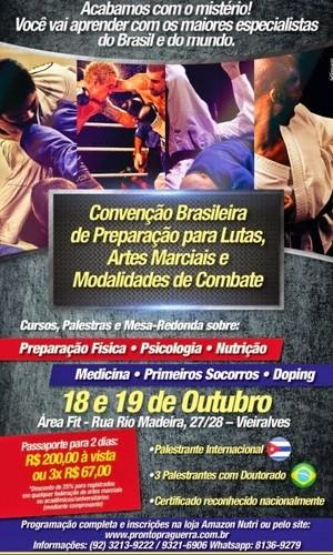 Convenção Brasileira de Preparação para Lutas (Foto: Divugação)