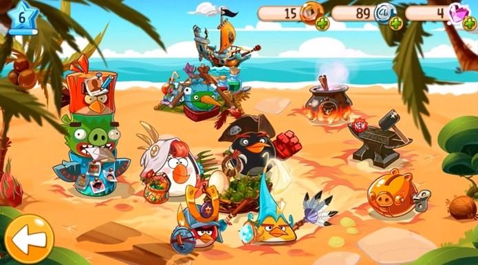 Customização dos personagens é um dos destaques de Angry Birds Epic (Foto: Reprodução / Dario Coutinho)