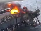 Incêndio em plataforma de petroleira do Azerbaijão mata 32 trabalhadores