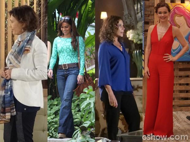 As mães de Em Família montam lindas produções (Foto: Em Familia/TVGlobo)