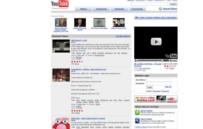 Youtube nem sempre fez parte do Google (Foto: Reprodução/Internet Archive)