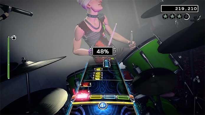 Siga as notas e treine bastante o pedal da bateria de Rock Band 4 (Foto: Divulgação/Harmonix)