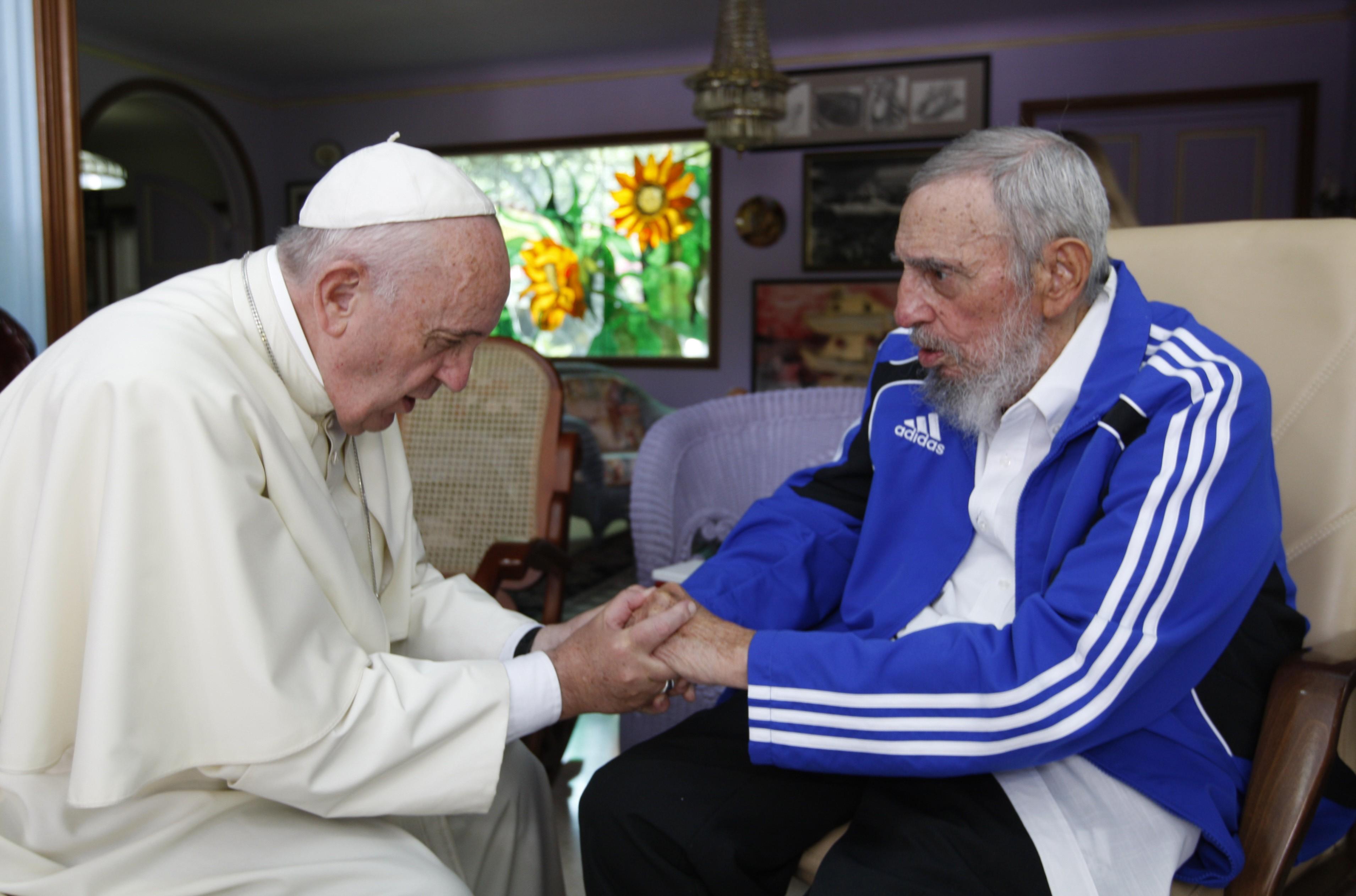 Em setembro de 2015, o Papa Francisco se reuniu com Fidel Castro em Havana