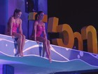 Gracyanne Barbosa é eliminada do Saltibum com salto sincronizado