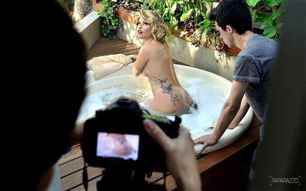 Making of Natalia Cassasola no Paparazzo (Foto: Roberto Teixeira / Paparazzo)
