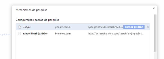 Redefina o Google como mecanismo de busca padrão