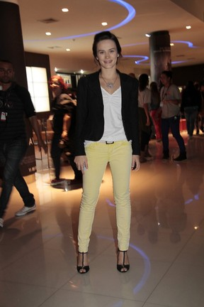 Bianca Bin em pré-estreia no Rio (Foto: Isac Luz/ EGO)