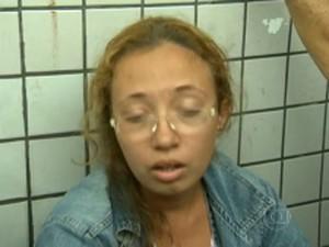 Mãe de Érica viu a morte da filha (Foto: Reprodução / TV Globo)