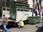 Terracom rompe com empresa e contentores de lixo são recolhidos