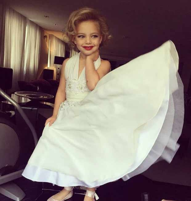 Brenda caracterizada como Marilyn Monroe em sua festa de aniversário de 4 anos (Foto: Reprodução/Instagram)