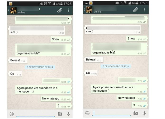 WhatsApp permite que usuário saiba quando contato lê a mensagem (Foto: Barbara Mannara/TechTudo)
