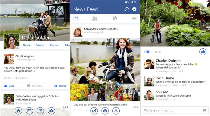FB ganhou atualização no WP (Foto: Divulgação/Microsoft)