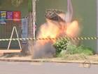 Detonada granada encontrada em jardim de residência na capital de MS
