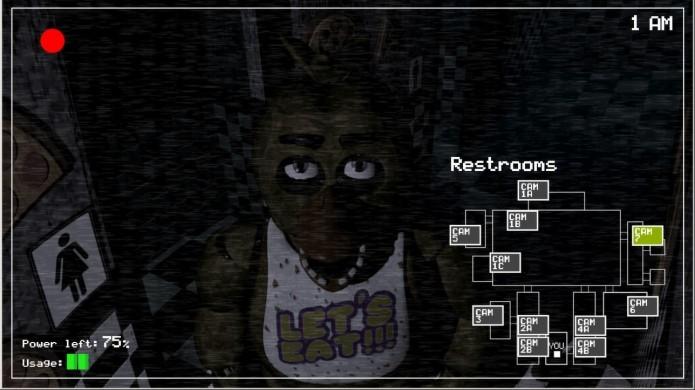 Embora possua gráficos fracos, Five Nights at Freddys é capaz de dar grandes sustos (Foto: Divulgação)