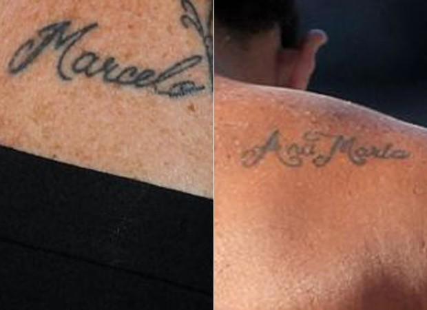 Tatuagens de Ana Maria e de Marcelo (Foto: Reprodução/Instagram)