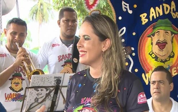 Siça Andradade, 'general' da Banda (Foto: Rondônia TV)