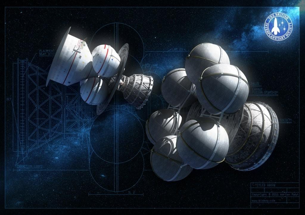 Projeto Daedalus: nave à base de fusão nuclear pode chegar a 10% da velocidade da luz (Foto: Divulgação)